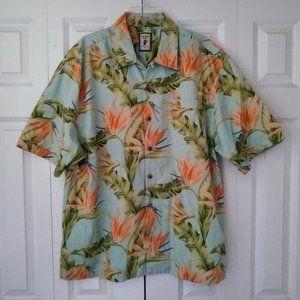 Jamaica Jaxx Hawaiian Floral Short Sleeve Button F